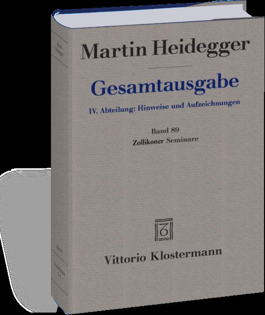 Heidegger, Martin: Zollikoner Seminare