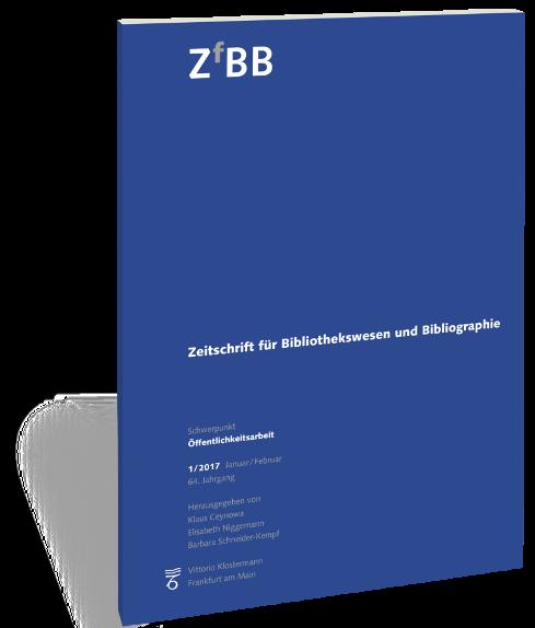 Image result for ZEITSCHRIFT FUR BIBLIOTHEKSWESEN UND BIBLIOGRAPHIE